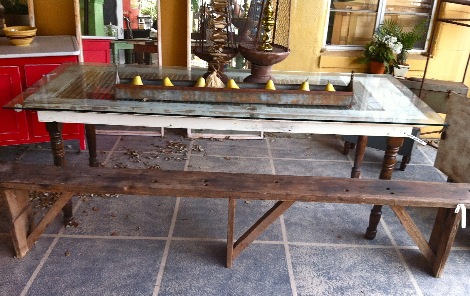 Love This Table Made Out Of An Old Door Thinking How Amazing It Would Look In My Dining Room
