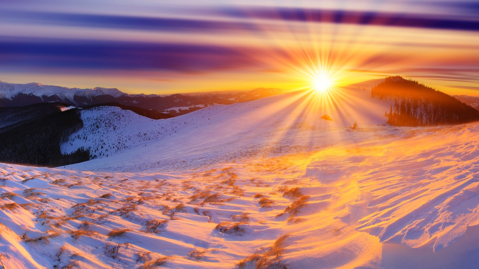 White Mountain Sunrise Snow Beautiful Nature Images And Wallpapers