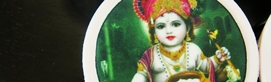 Header picture of Lord Krishna cupcakes