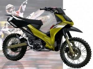 Gambar modifikasi motor Absolute  Revo