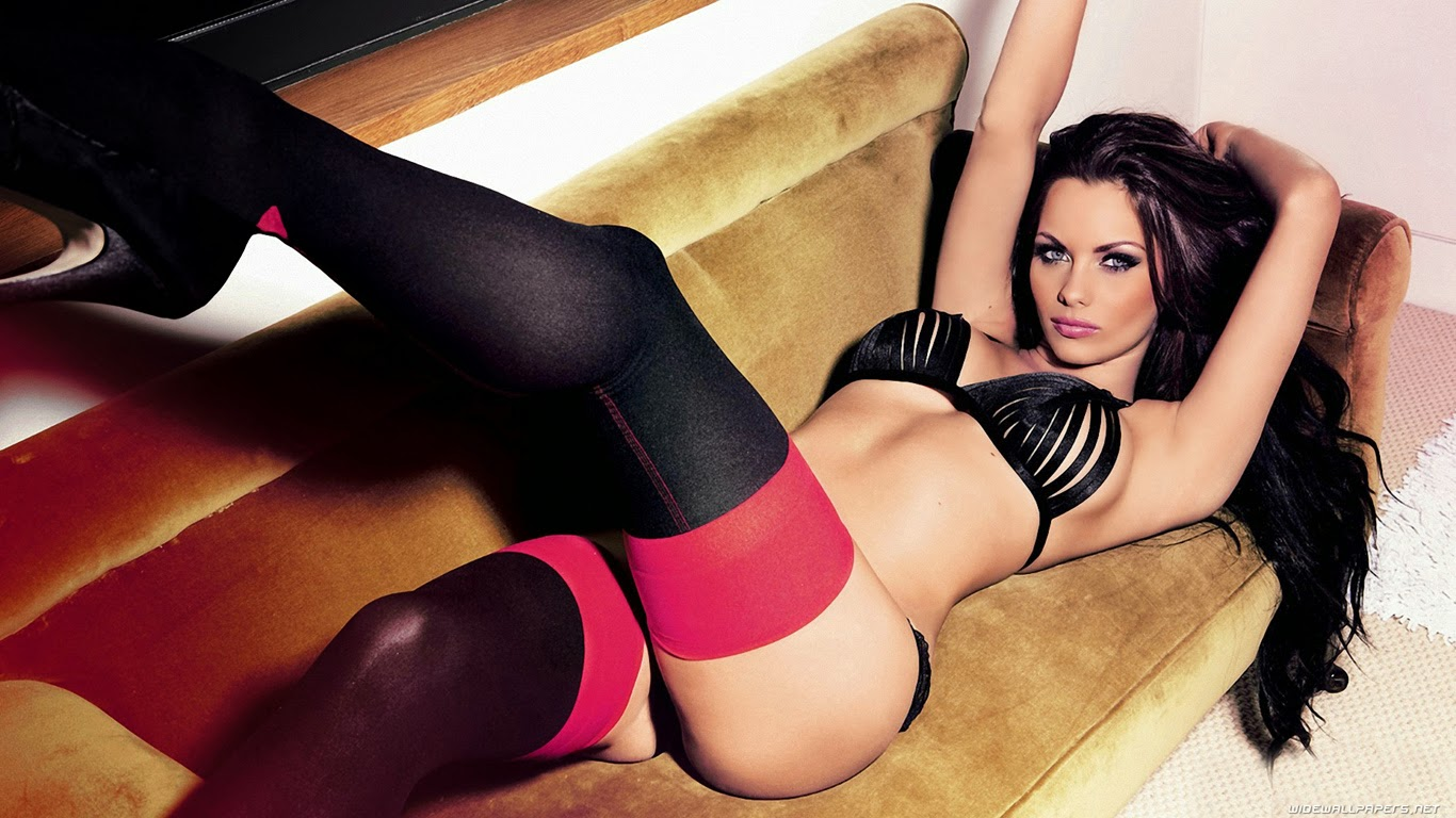 Hot girl on sofa