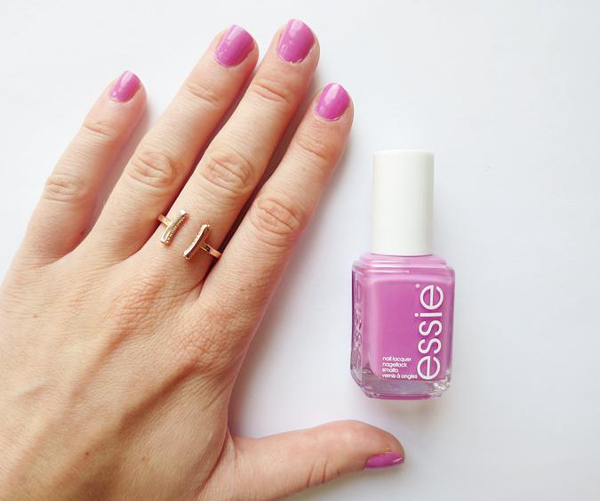 essie nail polish splash of grenadine pink