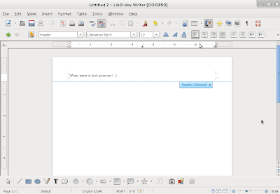 how to add a watermark in libreoffice writer