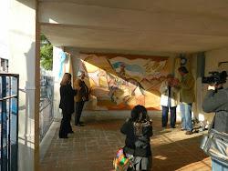 Mural sobre calle Guido.