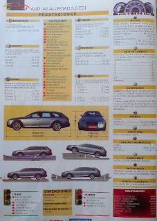 precio, motor, potencia, aceleracion, audi A6 allroad