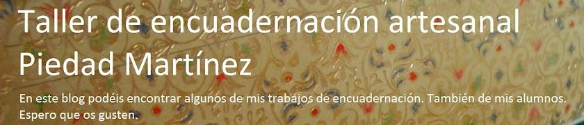 Taller de encuadernación artesanal Piedad Martínez