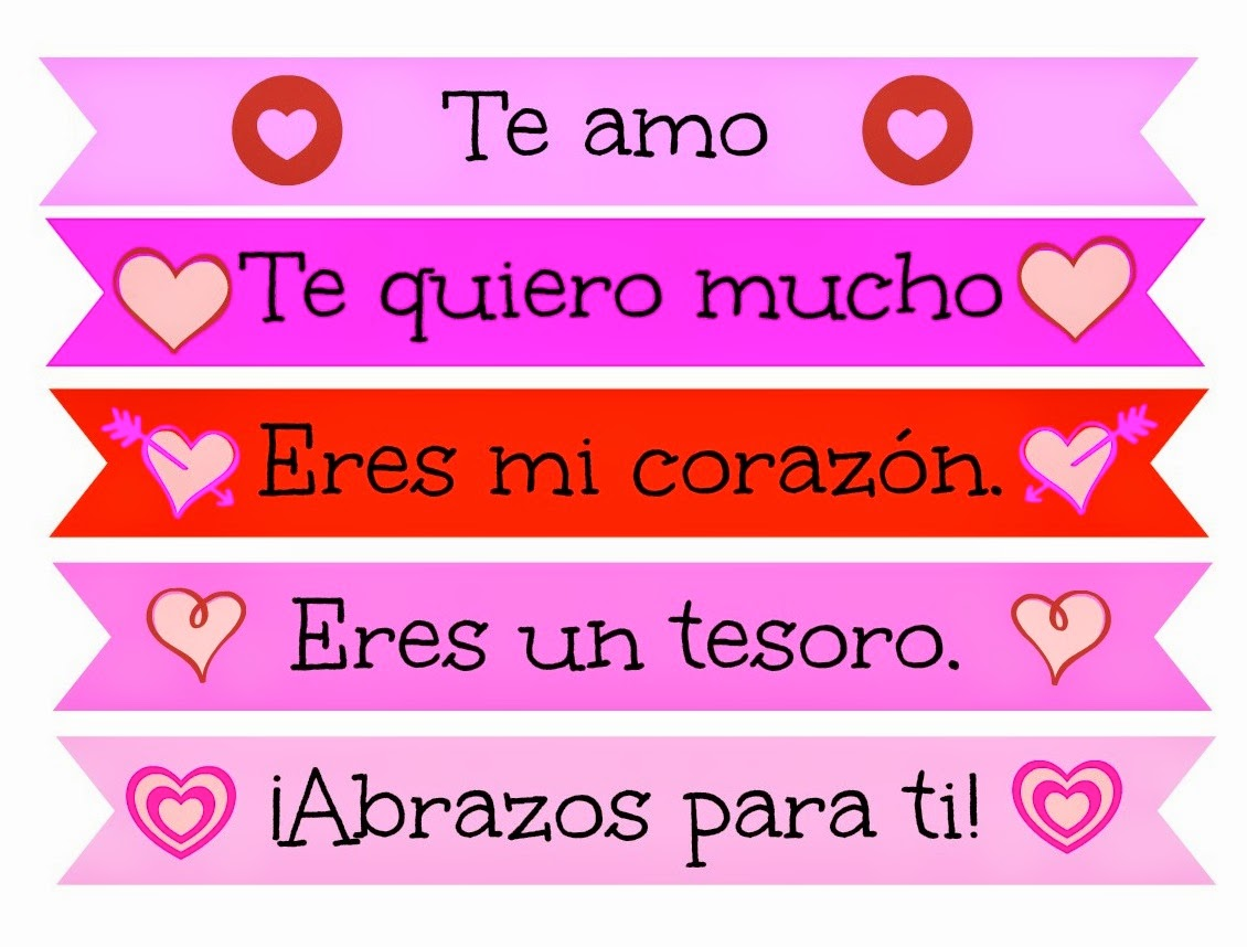 Mundo de Pepita Super cute Valentines Day Lunch Box Messages – Valentines Cards in Spanish