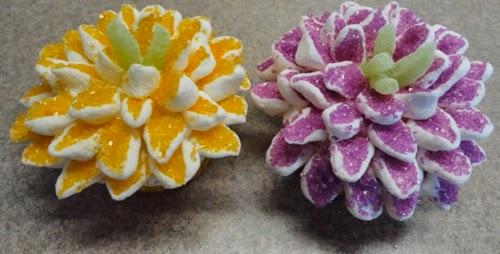 Cupcake con forma de flor