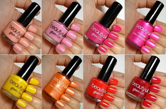 Beauty UK Nail Polish Swatches