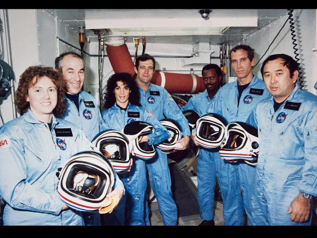 Challenger, space shuttle, NASA, Sharon Christa McAuliffe, Gregory Jarvis, Judith A. Resnik, Francis R. (Dick) Scobee, Ronald E. McNair, Mike J. Smith, Ellison S. Onizuka