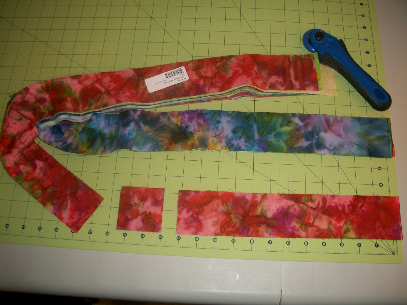 Sew Cook And Travel Quilt As You Go Table Runner With Jelly Roll Strips