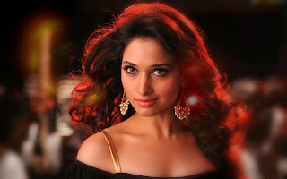 Tamanna Bhatia sexy wallpapers in red hair style