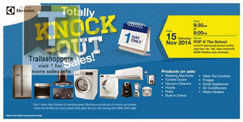 Electrolux Totally Knock-Out Sale offer