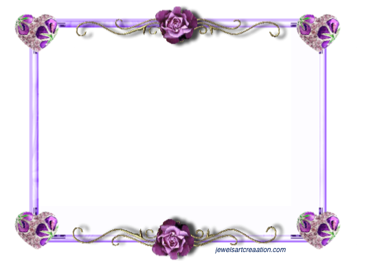 Purple Rose Frame Frames ~ Jewels Art Cr...