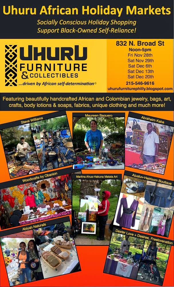 African Holiday Markets, hand made crafts & gift sale at Uhuru Furniture