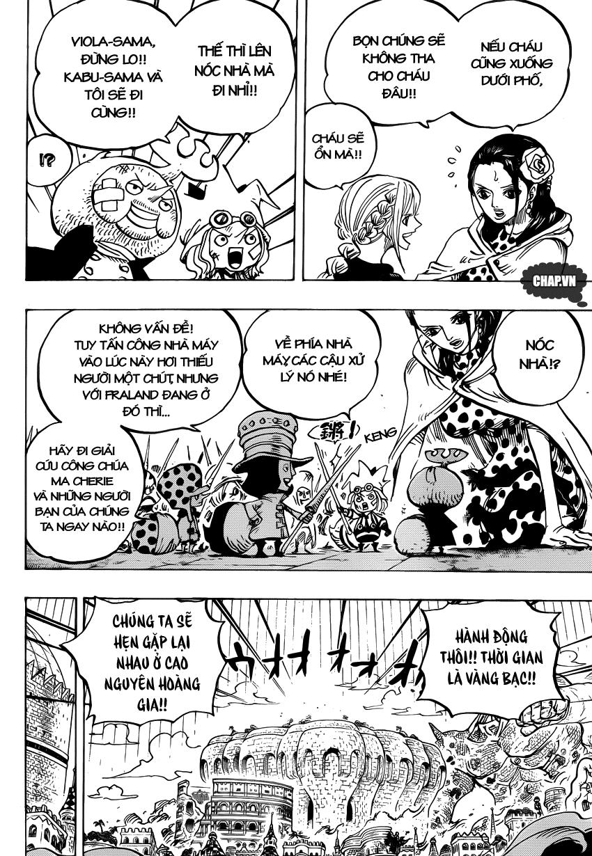 One Piece Chapter 750: Khơi màn cuộc chiến 011