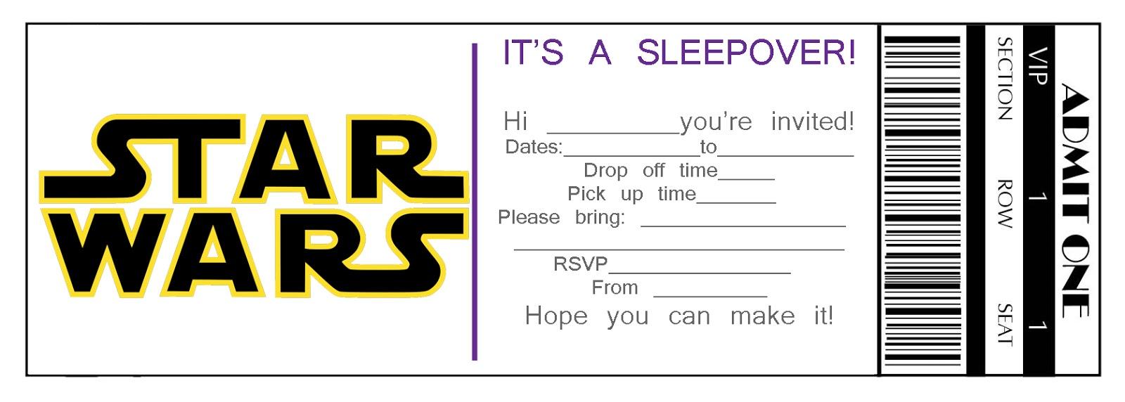 sleepover template invitations free - Paso.evolist.co