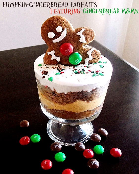 Gingerbread M&M parfaits