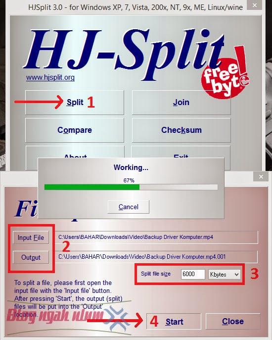 membagi file ukuran besar menggunakan hjsplit