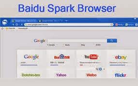 برنامج baidu spark browser 2014 لتصفح صفحات الانترنت