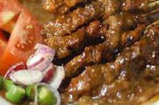 resep masakan indonesia sate sapi sambal kacang spesial praktis, mudah, enak, gurih, lezat
