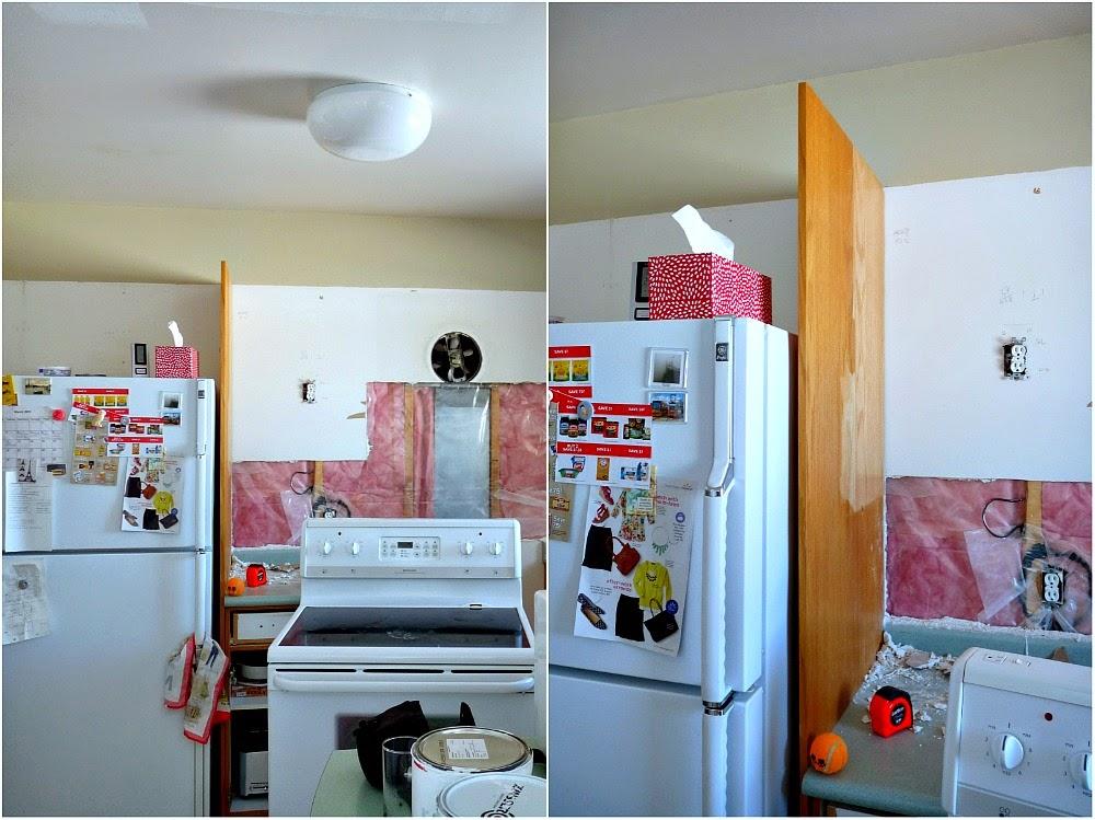 Kitchen Progress: DIY Pantry Cabinet + Working Around The Weirdness