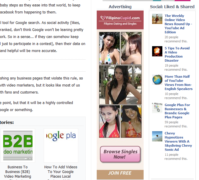 sample ad dating service