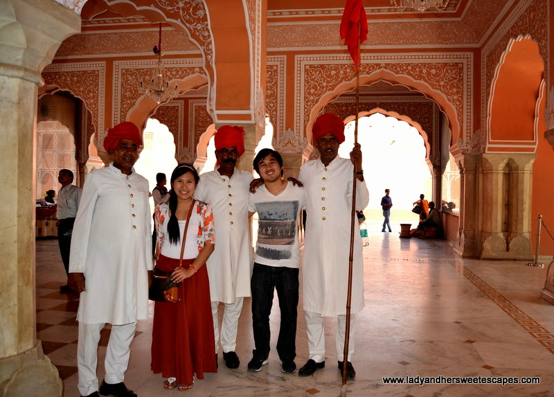 Ed and Lady at The City Palace in Jaipur