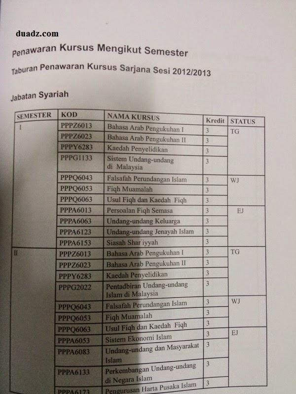 Diary UKM : Daftar Kursus WJ, EJ dan LJ