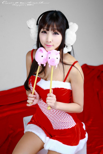 3 Santa Lee Yoo Eun-Very cute asian girl - girlcute4u.blogspot.com