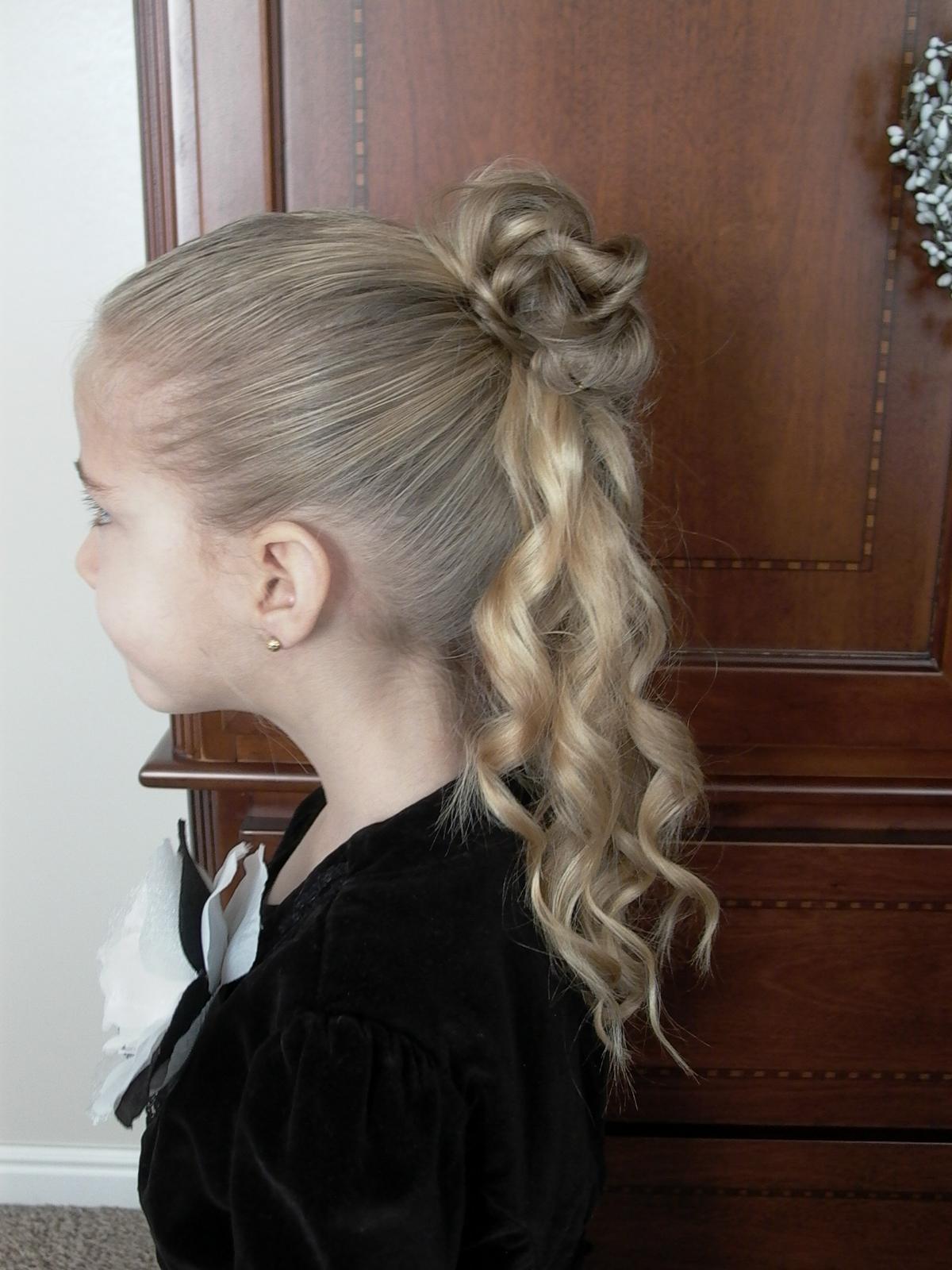 Pretty Hair is Fun: Half Bun Curly Updo Video Tutorial - Pretty Hair is Fun - Girls Hairstyle ...