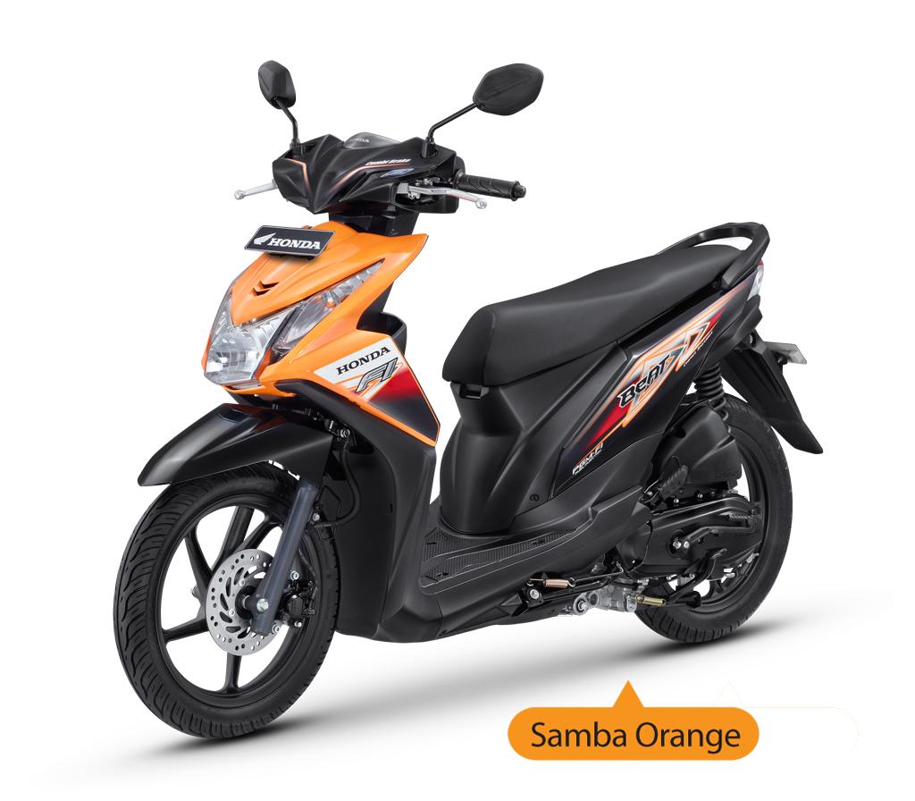 Delta Motorindo Harga Dan Spesifikasi Honda BeAT FI CBS Samba Orange