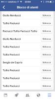 Alcuni utenti che ho bloccato su mio fb