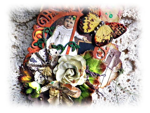 "Vintage Autumn Tag by Lisa Novogrodski created with the Scraps of Darkness November Kit ""Amy's Amazing Autumn"" lisaslivingincolor.blogspot"