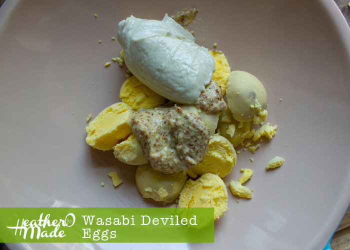 Heather O Made: Wasabi Deviled Eggs