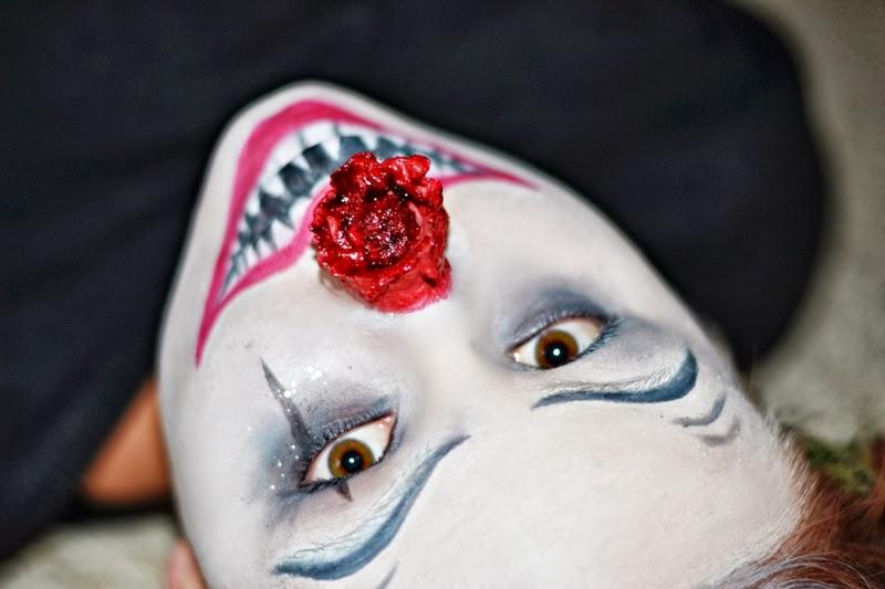 Halloween-Makeup-Verletzung-Clown-Nase
