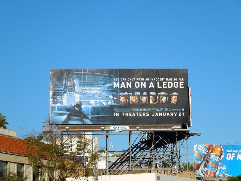 Man on a Ledge film billboard