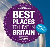 The Sunday Times Best Places to Live in Britain 2015 Logo