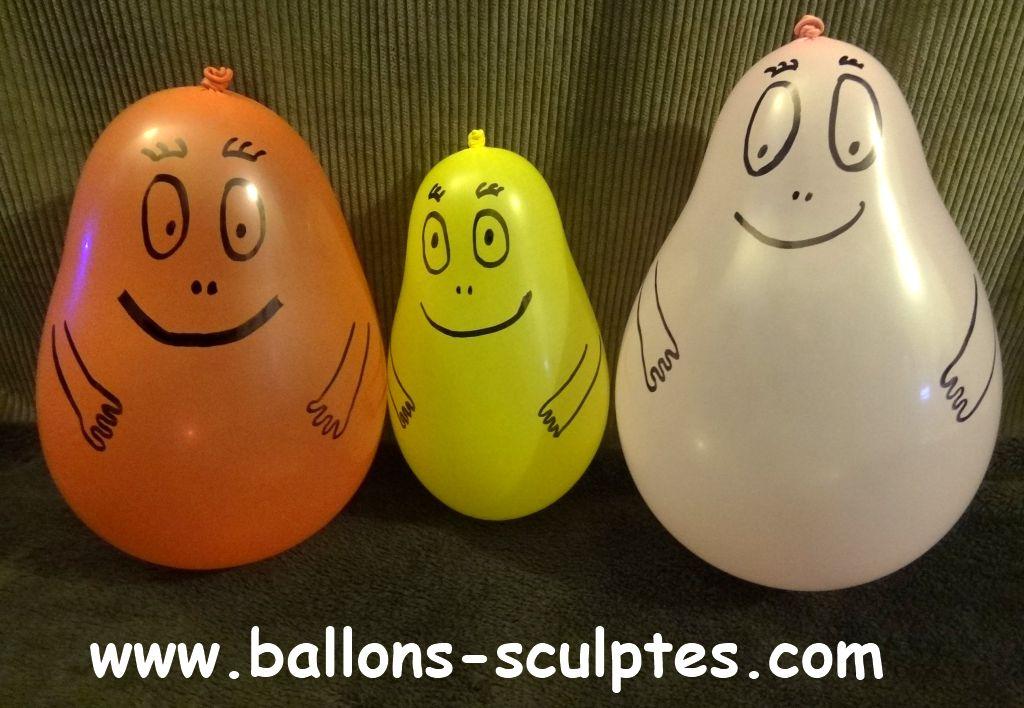 ballons sculpt s barbapapa en ballons. Black Bedroom Furniture Sets. Home Design Ideas