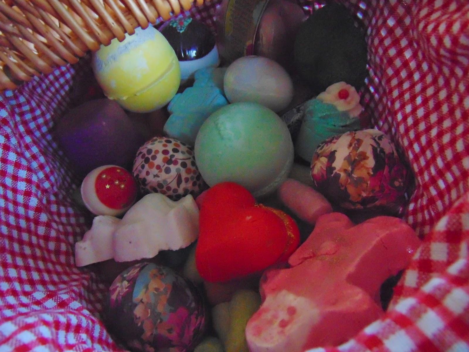 bath bomb basket lush bomb cosmetics joules