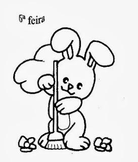 risco da semaninha do coelho sapeca para pintar