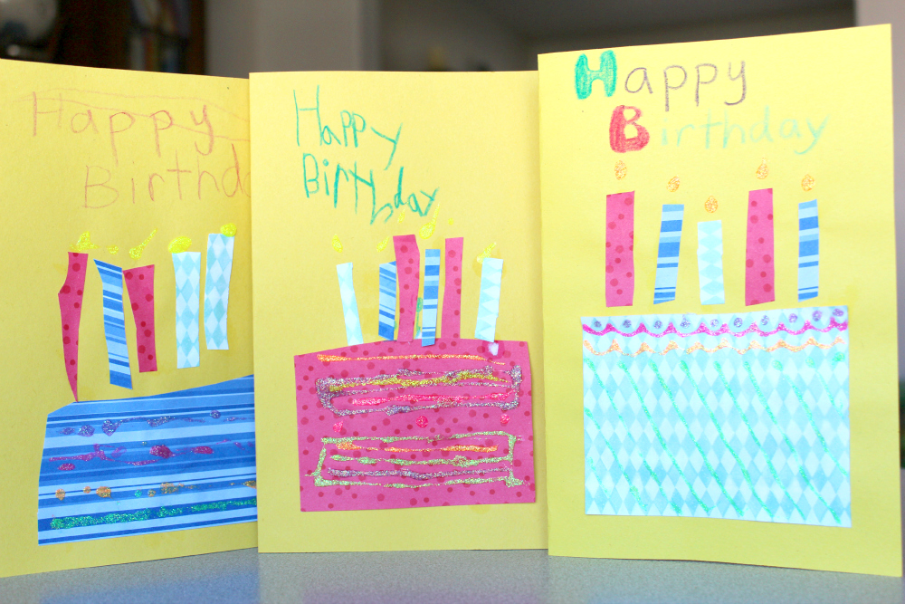 Diy Kids Birthday Card Geccetackletarts