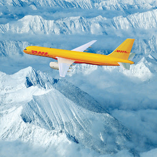 DHL Express, plane, freight, cargo, courier