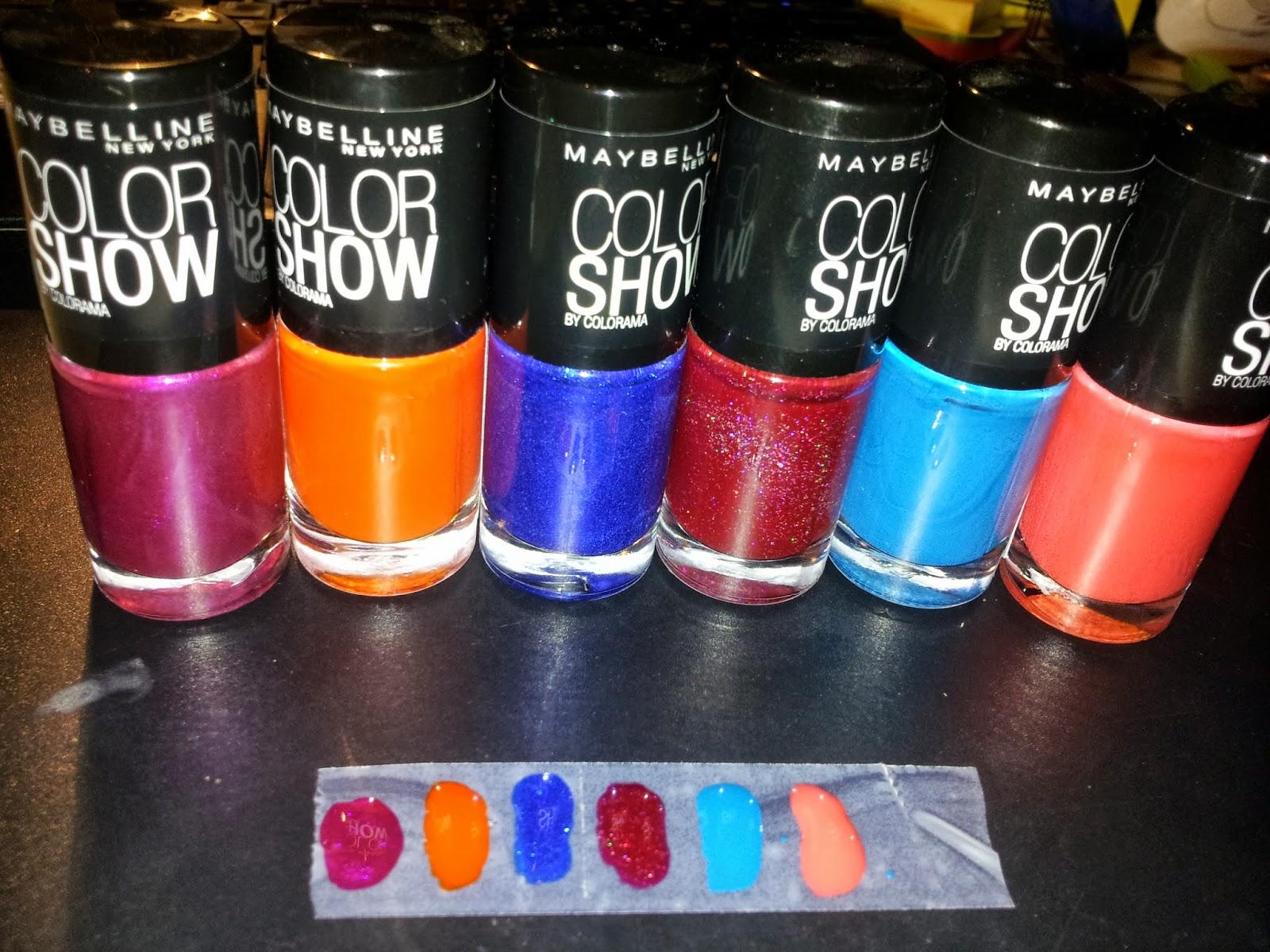 comme le dis le titre je commence ce type darticles avec des vernis les color show by colorama de maybelline - Vernis Color Show