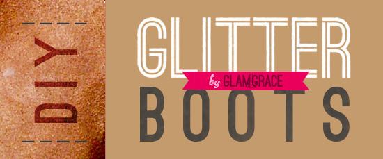 DIY glitter backed boot