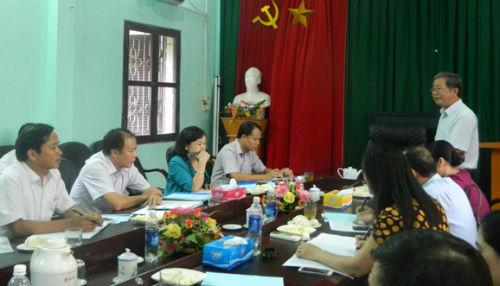 Sở giáo dục- đào tạo Bắc Giang làm việc tại Hiệp Hòa