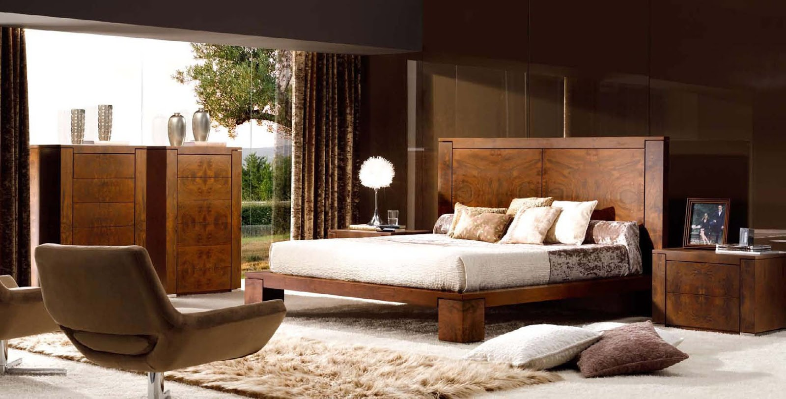Pooshaa enterprises hyderabad interior designer for Modern wooden bedroom designs