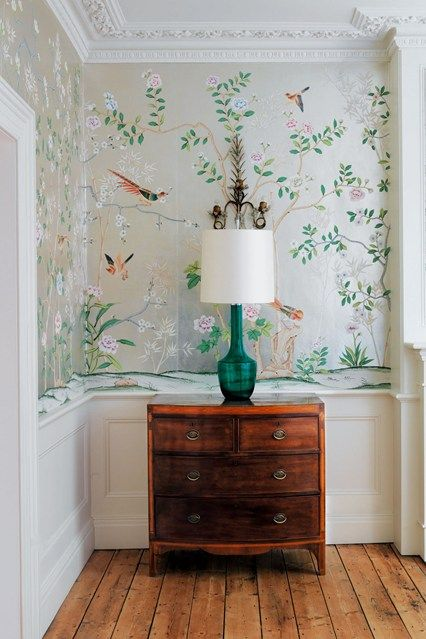 Foyer Wallpaper Love : Chinoiserie chic the tiny entryway