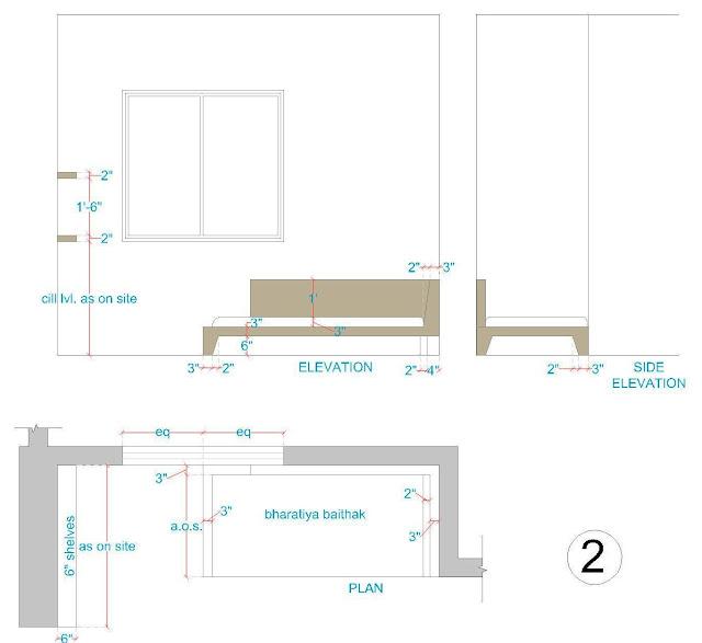 Wardrobe Plan Elevation Section : Interior designing portfolio interiors for a bedroom