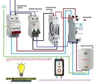 termo electrico contactor reloj horario interruptor de corte